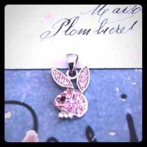 Jewelry - playboy bunny crystal charm pendant